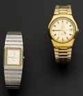 Timepieces:Wristwatch, Omega Constellation Quartz Wristwatch & Omega ElectronicChronometer. ... (Total: 2 Items)