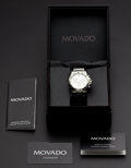 Timepieces:Wristwatch, Movado Series 800 Sub Sea Steel Chronograph, Box & Papers. ...