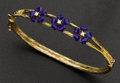Estate Jewelry:Bracelets, Gold, Enamel & Diamond Bracelet. ...
