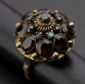 Estate Jewelry:Rings, Early Garnet & Gold Dome Ring. ...