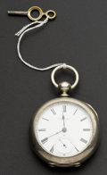 Timepieces:Pocket (pre 1900) , Howard Bros. Fredonia N.Y. Rare Independent Watch Co. Key Wind. ...