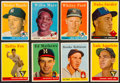 Baseball Cards:Sets, 1958 Topps Baseball Partial Set (223) With Mantle. ...
