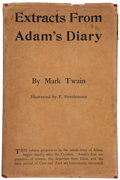 Books:Literature 1900-up, Mark Twain. Extracts From Adam's Diary. New York: Harper,1904. First edition. Rare in jacket....