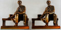 Books:Prints & Leaves, [Bookends]. Pair of Matching Abraham Lincoln Bookends. Metal withbronze finish. A few light surface rubs and a bit dusty, b...(Total: 2 Items)