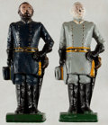 Books:Prints & Leaves, [Bookends]. Pair of Matching Civil War Generals Bookends. Metal with painted finish. A few small surface rubs and a bit dust... (Total: 2 Items)