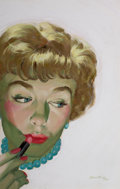 Pin-up and Glamour Art, VERNE TOSSEY (American, 1920-2002). Magazine cover, 1960.Tempera and gouache on board. 17.25 x 11 in.. Signed lower rig...