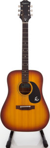 Musical Instruments:Acoustic Guitars, 1970s Epiphone FT-145 SB Sunburst Acoustic Guitar, Serial #532865....