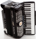Musical Instruments:Miscellaneous, Titano Converter Grand Black Accordion. ...