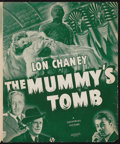 """Movie Posters:Horror, The Mummy's Tomb (Universal, 1942). Uncut Pressbook (6 Pages, 11.5"""" X 14""""). Horror.. ..."""