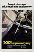 "Movie Posters:Science Fiction, 2001: A Space Odyssey (United Artists, R-1980). One Sheet (27"" X41""). Science Fiction.. ..."