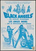 "Movie Posters:Blaxploitation, The Black Angels (Alfa Films, 1970). French Petite (17"" X 24"").Exploitation.. ..."