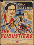 "Movie Posters:Adventure, The Buccaneer (Paramount, 1938). French Affiche (23.5"" X 31.5"").Adventure.. ..."