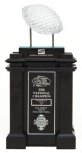 Football Collectibles:Others, 2005 University of Texas Longhorns Replica National Championship Trophy....