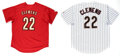 Baseball Collectibles:Uniforms, Roger Clemens Signed Houston Astros Jerseys Lot of 2....