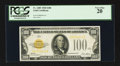 Small Size:Gold Certificates, Fr. 2405 $100 1928 Gold Certificate. PCGS Very Fine 20.. ...
