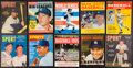 Baseball Collectibles:Publications, 1950's and 1960's Mickey Mantle Magazines Lot of 10....