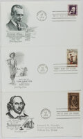 Books:Non-fiction, [First Day Covers]. Group of Three Related to American Literature. 1964-1973. Fine....