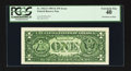 Error Notes:Ink Smears, Fr. 1922-F $1 1995 Federal Reserve Note. PCGS Extremely Fine 40.....