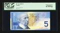 Canadian Currency: , BC-62a $5 2002 PCGS Superb Gem New 67PPQ.. ...