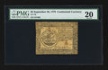 Colonial Notes:Continental Congress Issues, Continental Currency September 26, 1778 $5 PMG Very Fine 20.. ...