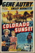 """Movie Posters:Western, Colorado Sunset (Republic, 1939). One Sheet (27"""" X 41""""). Western.. ..."""