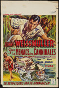 "Movie Posters:Adventure, Cannibal Attack & Others Lot (Columbia, 1954). Belgians (4)(14"" X 19"", 14"" X 21"", & 14.5 X 21.5""). Adventure.. ... (Total:4 Items)"