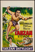 "Movie Posters:Adventure, Tarzan and His Mate and Others Lot (MGM, R-1968). Stock BelgianPosters (3) (14.5"" X 21.5"") and Finnish Poster (16.5"" X 23.5...(Total: 4 Items)"
