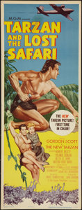 "Movie Posters:Adventure, Tarzan and the Lost Safari (MGM, 1957). Insert (14"" X 36"").Adventure.. ..."