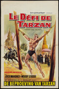 "Movie Posters:Adventure, Tarzan's Three Challenges and Others Lot (MGM, 1963). BelgianPosters (2) (14"" X 21'.5"") and (1) (16.75' X 23.75"") and Autog...(Total: 4 Items)"
