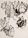Mainstream Illustration, GARTH WILLIAMS (American, 1912-1996). Flossie and Bossie, set oftwo: page 40 and 208 illustrations. Pen on paper. 10 x ...(Total: 2 Items)