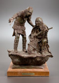 Sculpture, H. CLAY DAHLBERG (American, b. 1946). Geronimo's Wolves, 1981. Bronze. 17 inches (43.2 cm). Ed. 23/25. Titled, signed, a...