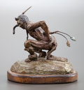 Sculpture, JOE DEYONG (American, 20th Century). Sage Hen Dancer. Bronze. 6-1/4 inches (15.9 cm). Ed. 15/50. Signed on base: JOE D...