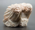 Sculpture, ROBERT GARCIA (American, b. 1952). Friendship Fight. Alabaster. 9 inches (22.9 cm). Signed on base: R. Garcia. THE...