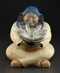 BILL GLASS JR (American, b. 1950) Earth Maiden Ceramic stoneware 15 inches (38.1 cm) Signed on