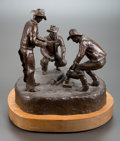 Sculpture, JIM HAMILTON (American, 20th Century). Morning Coffee, 1978. Bronze. 13 inches (33.0 cm). Ed. 18/30. Titled, signed, and...