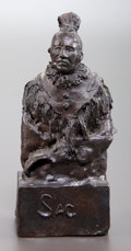 Sculpture, JOHN W. LEARNED (American, 20th Century). Sac. Bronze. 7 inches (17.8 cm). Titled and signed on base: SAC /JW LEARNED...