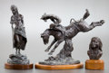 Sculpture, JIM MILLER (American, 20th Century). Group of Three Bronzes:. Buffalo Gal, Ed. 16/20. Indian Head, Ed. 11/50. ... (Total: 3 Items)