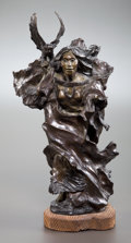 Sculpture, NANCY MCLAUGHLIN (American, 1932-1985). The Owl Woman Calls Your Name, 1974. Bronze. 15-1/2 inches (39.4 cm). Signed, ti...