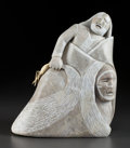 Fine Art - Sculpture, American:Contemporary (1950 to present), GORDON VAN WERT (American, 20th Century). Tobacco Power,1975. Alabaster. 12 inches (30.5 cm). Initialed and dated on ba...