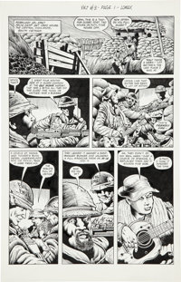 "Don Lomax Vietnam Journal #3 ""Scorched Earth By the Numbers"" Page Original Art Group (Apple Comics, 1988)..."