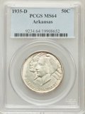 Commemorative Silver: , 1935-D 50C Arkansas MS64 PCGS. PCGS Population (453/639). NGCCensus: (271/460). Mintage: 5,505. Numismedia Wsl. Price for ...