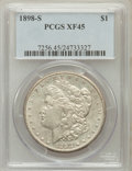 Morgan Dollars: , 1898-S $1 XF45 PCGS. PCGS Population (94/4015). NGC Census:(37/2403). Mintage: 4,102,000. Numismedia Wsl. Price for proble...