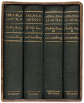 Books:Americana & American History, [Abraham Lincoln, subject]. Carl Sandburg. Abraham Lincoln TheWar Years. New York: [1939]. First trade edition. S... (Total:4 Items)