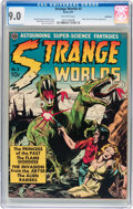 Golden Age (1938-1955):Science Fiction, Strange Worlds #3 Bethlehem pedigree (Avon, 1951) CGC VF/NM 9.0Off-white pages....