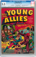 Golden Age (1938-1955):Superhero, Young Allies Comics #1 (Timely, 1941) CGC FN- 5.5 Cream to off-white pages....
