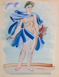 Works on Paper, RAOUL DUFY (French, 1877-1953). La Poète Assasine. Watercolor on paper. 10-1/2 x 8-1/2 inches (26.7 x 21.6 cm). Signed l...