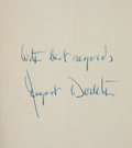 Books:Mystery & Detective Fiction, August Derleth. The Narracong Riddle. New York:Scribner's, 1940. First edition. Signed....