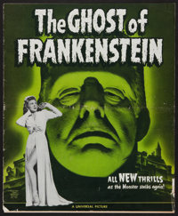 """The Ghost of Frankenstein (Universal, 1942). Uncut Pressbook (Multiple Pages, 11.5"""" X 14""""). Horror"""