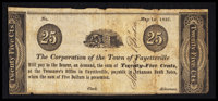 Fayetteville, AR- Corporation of the Town of Fayetteville 25¢ May 1, 1842 Rothert 192-1