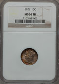 Mercury Dimes: , 1926 10C MS66 Full Bands NGC. NGC Census: (32/9). PCGS Population(86/16). Mintage: 32,160,000. Numismedia Wsl. Price for p...